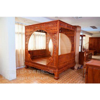 花梨实木大床中式明清古典红木梅花架床刺猬紫檀双人床1.8米