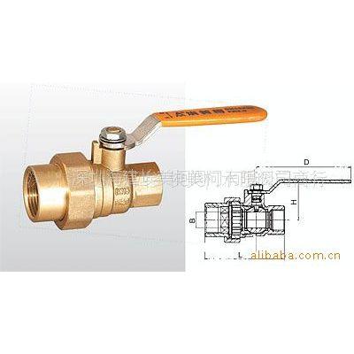 供应Q11F-20T 黄铜异径活接头球阀