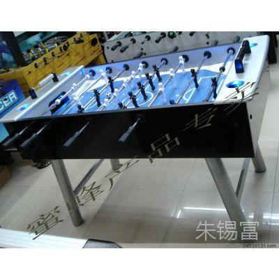 KTV咖啡厅室内娱乐玻璃带LED铁脚高档豪华标准桌上足球机足球台