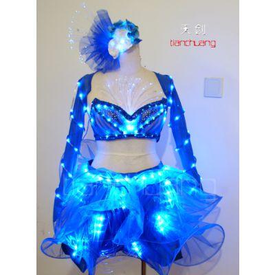 天创LED发光短裙 舞台服装 舞蹈裙表演服定做舞蹈服装演出服