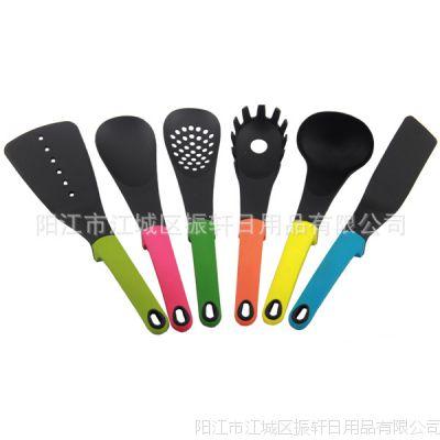 2015新款彩色 尼龙厨具 六件套 多功能烹饪勺铲 彩色柄尼龙厨具