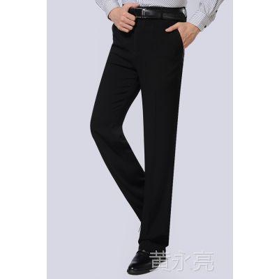 春夏薄款中年男士西裤直筒中老年人高腰西装裤子休闲男装免烫苹果