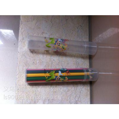铅笔厂家定做加印LOGO 文房用具 12支铅笔笔筒 笔插 pp材质 厂家批发