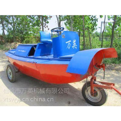 泰州割草船|除草船找万英全液压式小型水面割草船