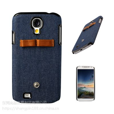 惠州手机保护套工厂 纯色牛仔布后盖式手机保护壳 OEM加工订做