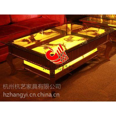 供应杭州酒店家具玻璃发光茶几/歌房天然大理石茶几/***的服务