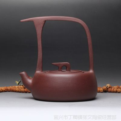 一公紫砂年初巨优惠厂家自销正宗宜兴原矿紫泥顺风提梁壶
