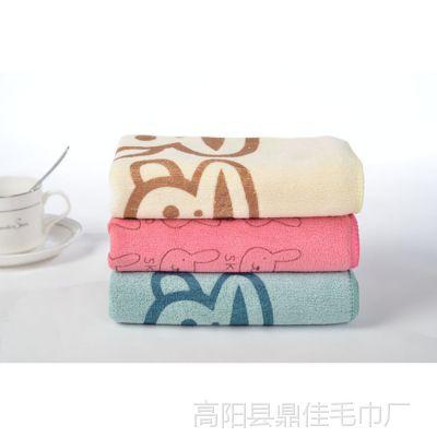 批量供应时尚超柔超细纤维毛巾 高档磨毛印花毛巾 可爱卡通毛巾