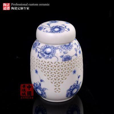 高档陶瓷茶叶罐定制 密封罐041024