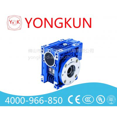 蜗轮蜗杆减速机,减速比为:123,配连接0.55KW电机永坤