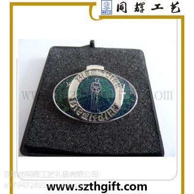 深圳同辉定做高尔夫帽夹 金属高档帽夹可来图稿生产定做