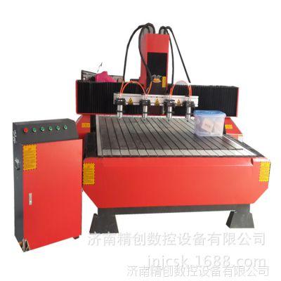 精创1318一拖四木工雕刻机床头柜雕刻机 橄榄胡雕刻机