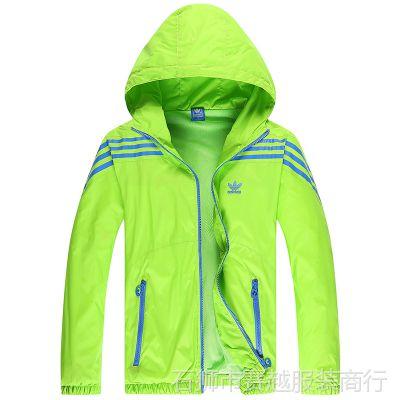 2015春季新运动风衣男春秋薄款户外防风衣青少年跑步服装夹克外套