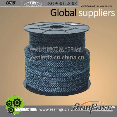 批发厂家直批优质碳纤维盘根浸四氟 碳纤四氟盘根