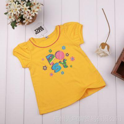 外贸原单西松屋清仓 品牌特价女童夏季童装上衣 儿童短袖童t恤