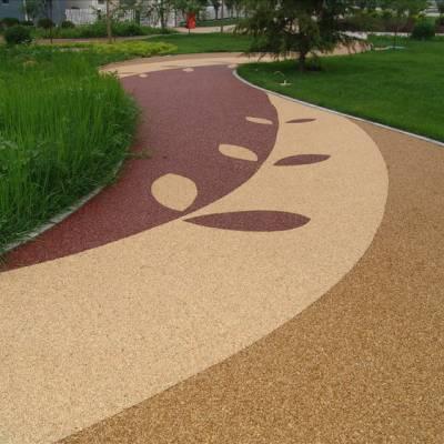 江苏桓石彩色透水混凝土,山东透水混凝土地坪,彩色渗水性路面
