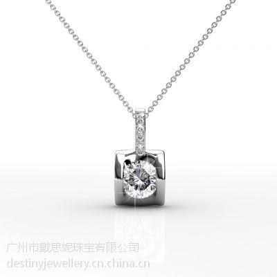 戴思妮 采用施华洛世奇元素 时尚水晶项链吊坠 女士饰品 厂家直销