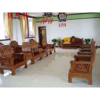 供应红木沙发椅子 酒店大堂配置 纯手工雕刻 实木