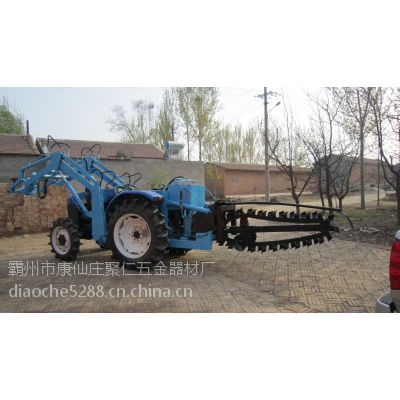 农业耕田拖拉机开沟机 挖沟钻眼多功能机 电缆挖沟机 四轮式?