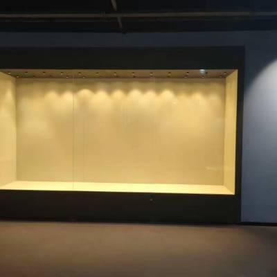 博物馆延墙展柜订做,华信金属氟碳烤漆博物馆展示柜制作厂家,文物陈列柜供应