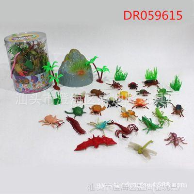 幼儿早教认知仿真动物套装 甲虫昆虫静态森林小动物玩具批发