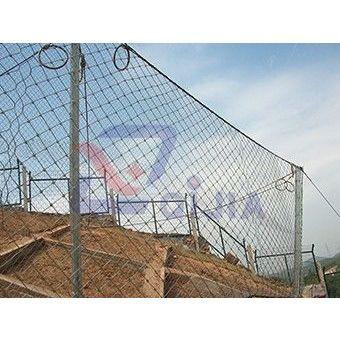 供应主动防护网工程质量检验评分之钢柱与拉锚绳