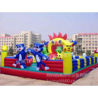 供应蓝猫宝贝中小型儿童充气蹦蹦床 充气城堡价格 充气玩具