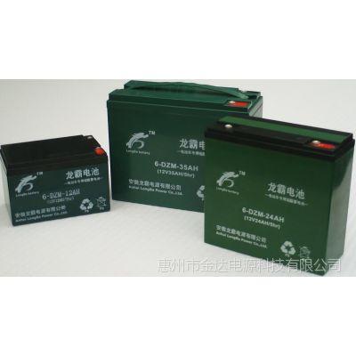 供应轻骑电动车电瓶12V12AH龙霸铅酸蓄电池