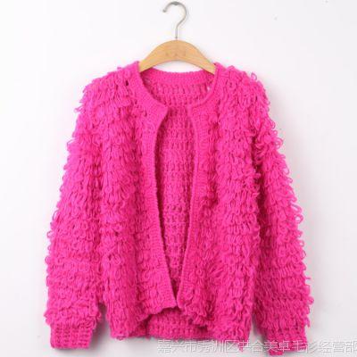 2015新款韩版春秋季女装韩国街头手工短款针织衫毛衣开衫外套开衫