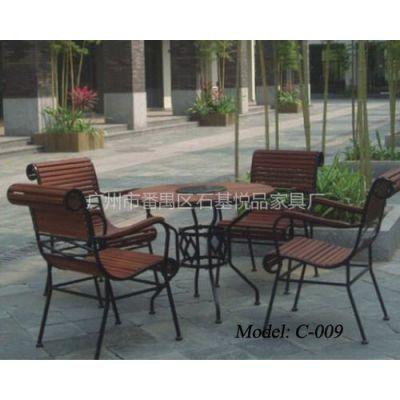 供应广东厂商供应户外套椅现货 公园桌椅现货 木制休闲桌椅