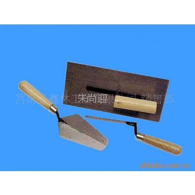 【专业厂家】供应Q-14三件套砌砖刀 全尾镜面木柄砌砖刀 匠作工具