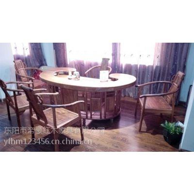 供应江苏常州帝豪红木家具店 古典中式 鸟巢茶台 刺猬紫檀家具
