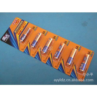 供应【雷达6粒板装干电池】5号锌锰电池、高功率无功防漏型AA优质电池