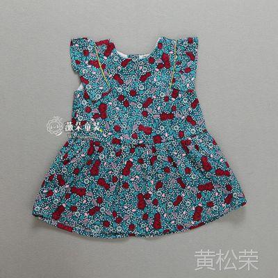 外贸原单童装批发 女童连衣裙 女孩裙子 夏装实体供货