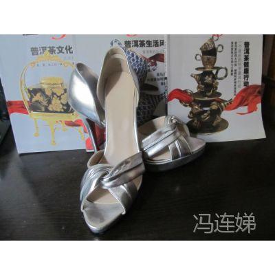 来图做鞋广州鞋厂 外贸真皮高跟女凉鞋 高端精品女鞋定制鞋厂