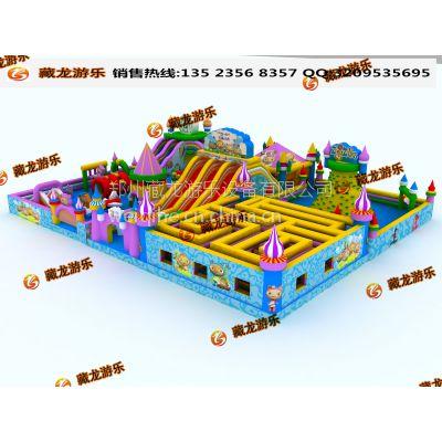中大型的打气气模滑梯郑州哪定制 猪猪侠小型城堡报价 小型城堡价位