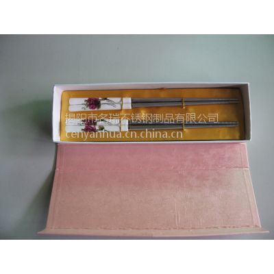 【揭阳名瑞】玫瑰花陶瓷柄筷子 创意不锈钢筷子礼盒 婚庆回礼 情侣套装 广告促销礼品