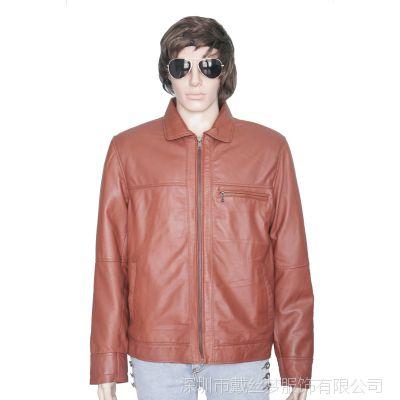 真皮皮衣男士单皮优质头层绵羊皮男式皮夹克皮草男装皮衣外套