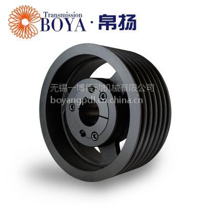 采购铸造皮带轮spz355-06选无锡帛扬锥套皮带轮厂