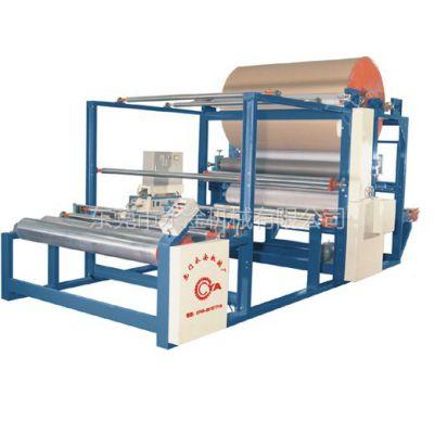供应面料加工机械皮革后段处理机械永淦的热熔胶机、衣料胶点机、衣料面料贴合机