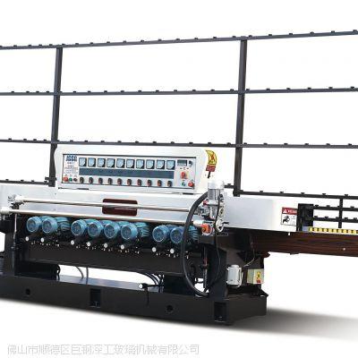 供应玻璃磨边机,JGXM261玻璃斜边机,摆架结构同步进退 前后夹板及中镶条采用40cr材料