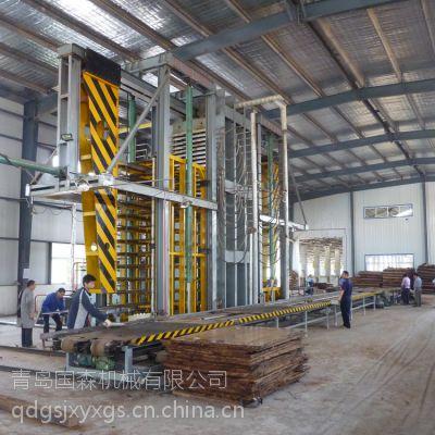 供应哪家生产的竹丝板压机设备评价高?青岛国森机械