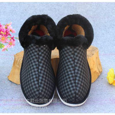 儿童秋冬棉鞋批发加厚毛口海棉鞋批发价格