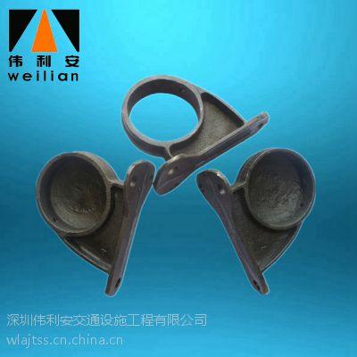 深圳伟利安厂家直销铸铁车轮挡轮杆底座 限位止退器底座停车场交通设施