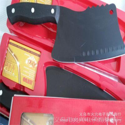 德国黑刀 冰点钛金钢刀 黑钢刀 砍剁两用蔷薇刀 260克乌钢黑刀