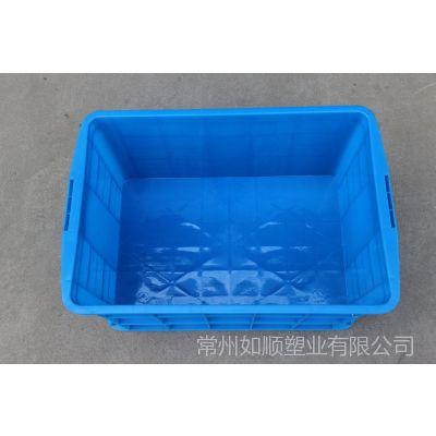 供应蓝色塑料大型周转箱575-300塑料箱 运输箱 养值箱