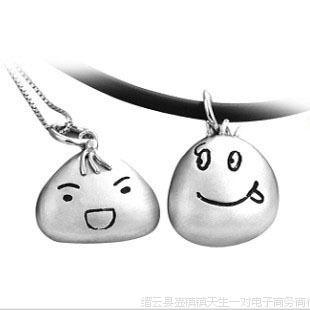淘宝新款S925纯银吊坠福娃笑脸挂坠男女个性创意饰品批发一件代发