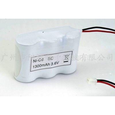 供应镍镉SC3.6V1300mah消防应急灯电池组厂家定制