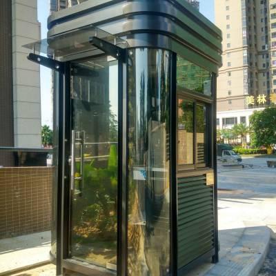 手工艺术成品钢结构岗亭,定做小区方形钢结构亭,企业岗亭