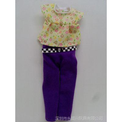 公仔服装厂家定做 娃娃时尚衣服 塑胶玩具衣服加工